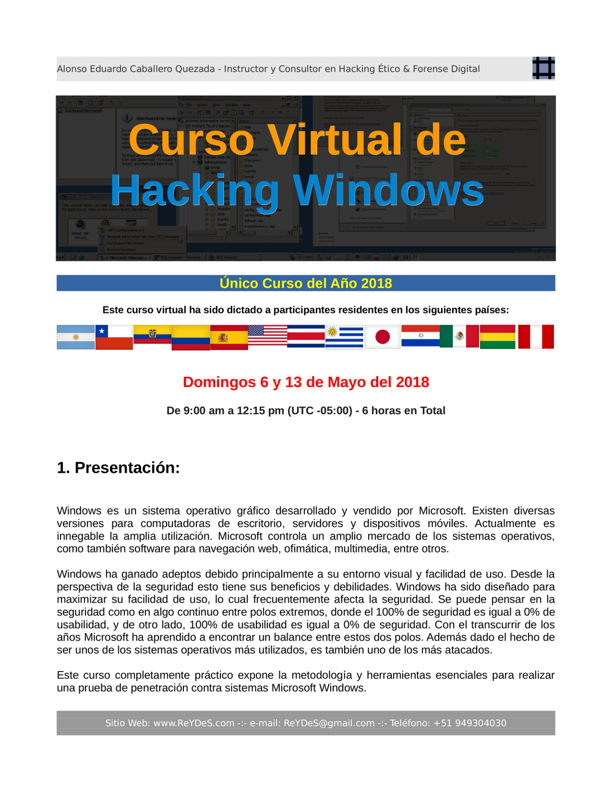 Único Curso Virtual Hacking Windows