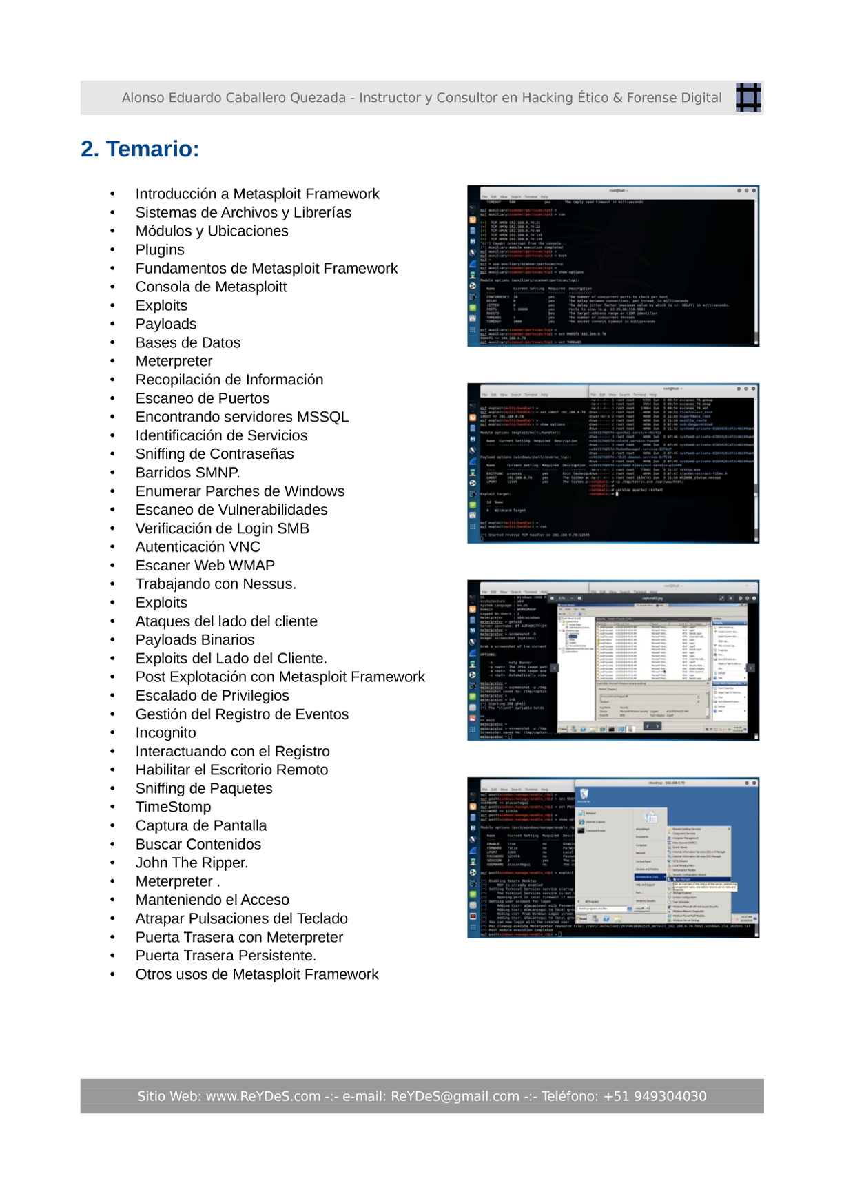 Único Curso Virtual Metasploit Framework 2019