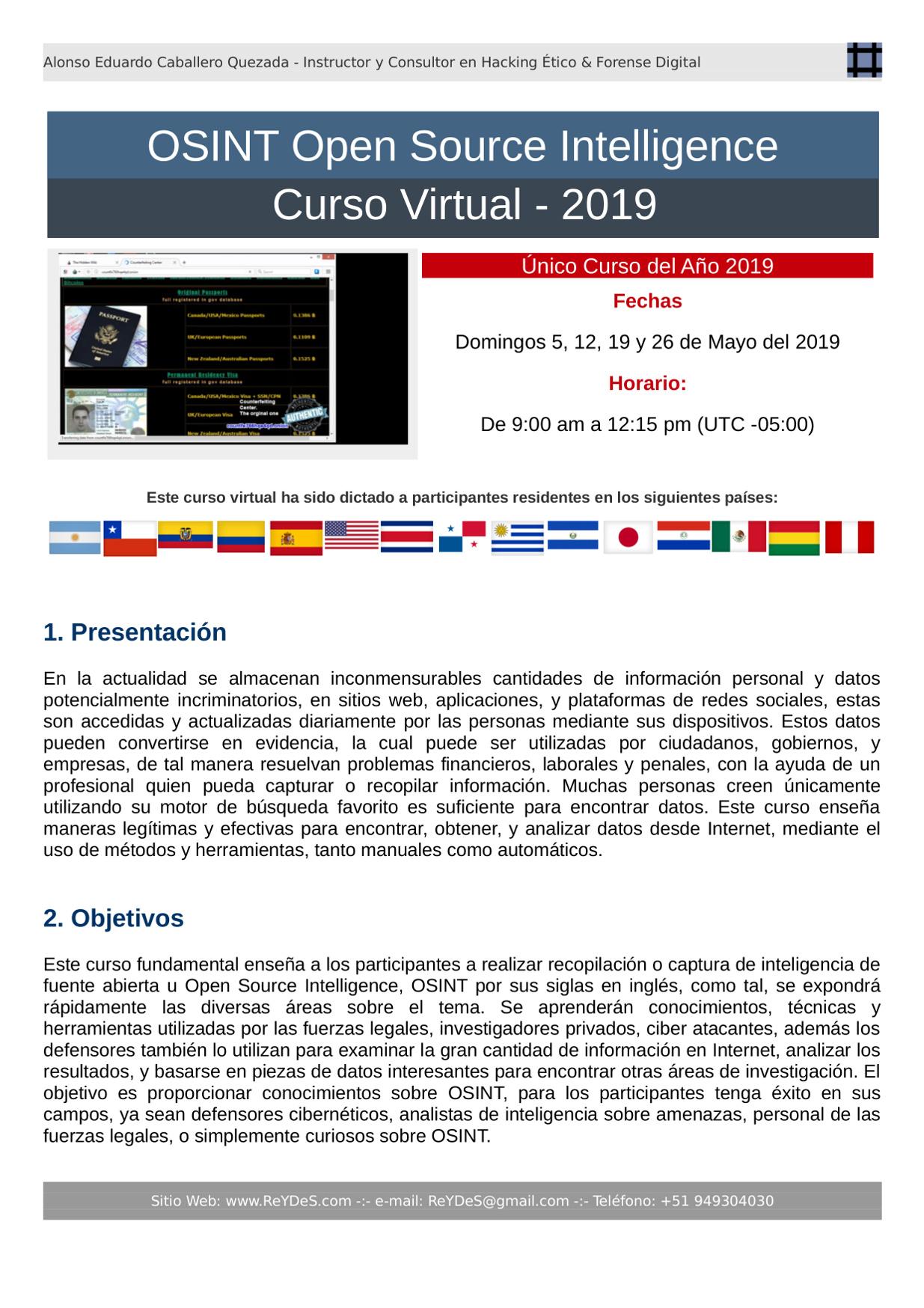Único Curso de OSINT Open Source Intelligence 2019