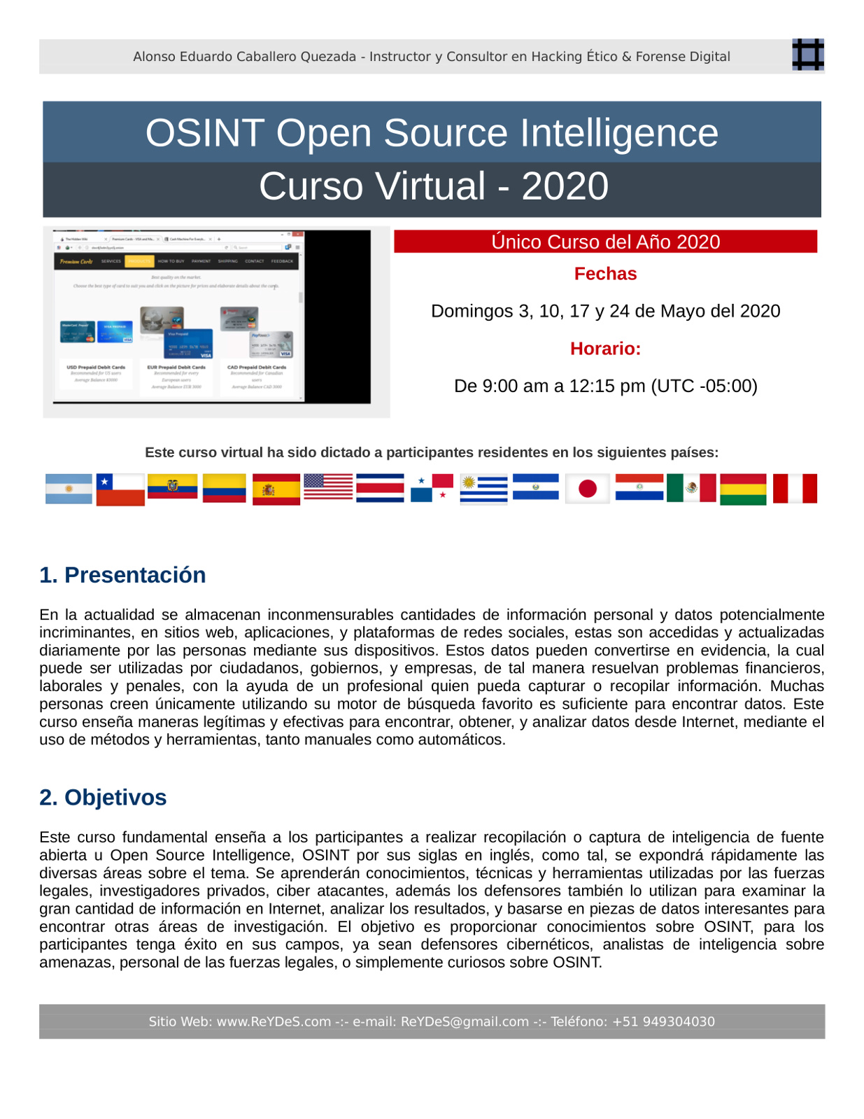Único Curso Virtual de OSINT Open Source Intelligence 2020
